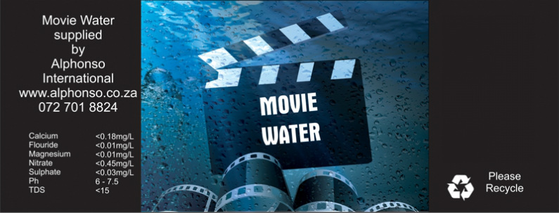 Movie Water Label